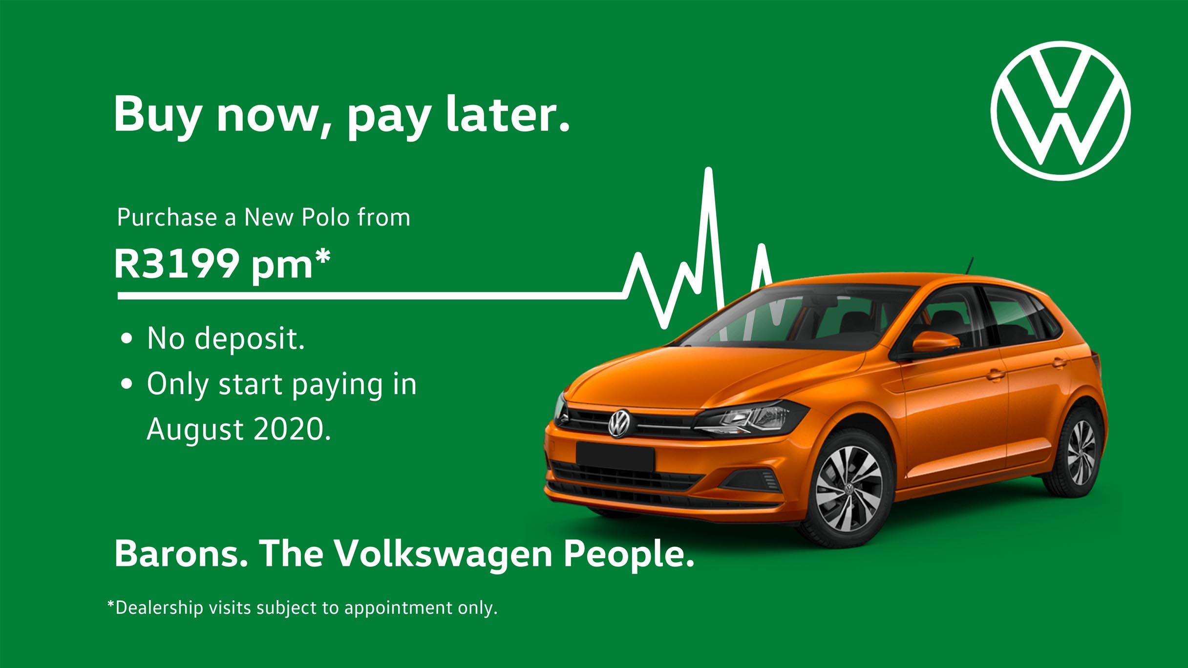 Barons VW no deposit Polo offer